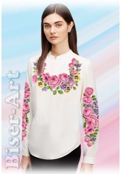 Заготовка вишиванки Жіночої Сорочки для вишивки бісером(вишивки хрестиком) Г (SZ15)