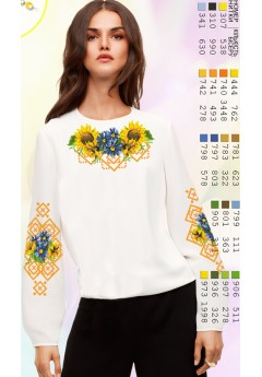 Заготовка вишиванки Жіночої Сорочки для вишивки бісером(вишивки хрестиком) Г (SZ58)