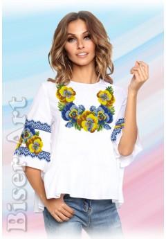 Заготовка вишиванки Жіночої Сорочки для вишивки бісером(вишивки хрестиком) Г (SZ76)