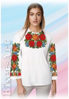 Заготовка вишиванки Жіночої Сорочки для вишивки бісером(вишивки хрестиком) Г (SZ77)