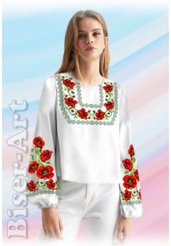 Заготовка вишиванки Жіночої Сорочки для вишивки бісером(вишивки хрестиком) Г (SZ80)