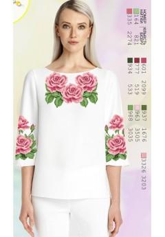 Заготовка вишиванки Жіночої Сорочки для вишивки бісером(вишивки хрестиком) ЛБ (SZ82)