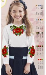 Заготовка для вишивки сорочки на дівчинку, льон білий (Sor1)