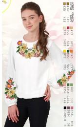 Заготовка для вишивки сорочки на дівчинку, льон білий (Sor10)