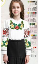 Заготовка для вишивки сорочки на дівчинку, льон білий (Sor101)