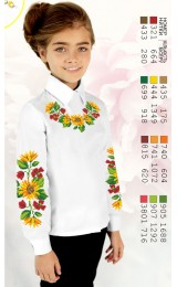 Заготовка для вишивки сорочки на дівчинку, льон білий (Sor102)