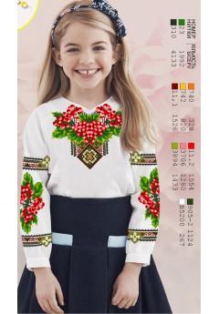Заготовка для вишивки сорочки на дівчинку, льон білий (Д114)