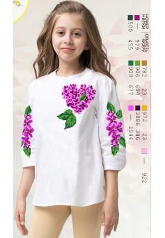 Заготовка для вишивки сорочки на дівчинку, габардин білий (Д115)