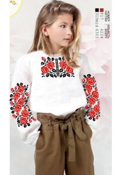 Заготовка для вишивки сорочки на дівчинку, габардин білий (Sor68)