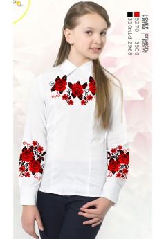 Заготовка для вишивки сорочки на дівчинку, габардин білий (Sor69)