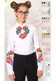 Заготовка для вишивки сорочки на дівчинку, габардин білий (Sor7)