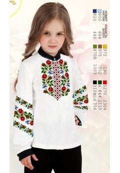 Заготовка для вишивки сорочки на дівчинку, габардин білий (Sor71)