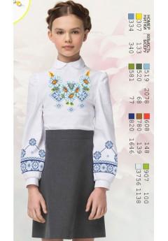 Заготовка для вишивки сорочки на дівчинку, габардин білий (Sor72)