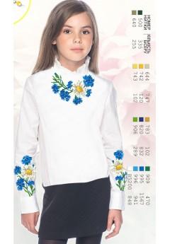 Заготовка для вишивки сорочки на дівчинку, габардин білий (Sor78)