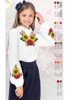 Заготовка для вишивки сорочки на дівчинку, габардин білий (Sor8)