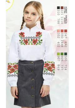 Заготовка для вишивки сорочки на дівчинку, габардин білий (Sor80)