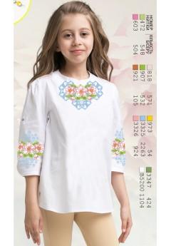 Заготовка для вишивки сорочки на дівчинку, габардин білий (Sor81)