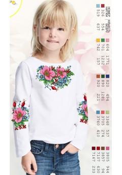 Заготовка для вишивки сорочки на дівчинку, габардин білий (Sor9)