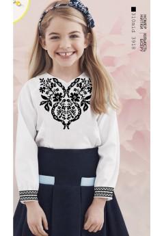Заготовка для вишивки сорочки на дівчинку, габардин білий (Sor93)