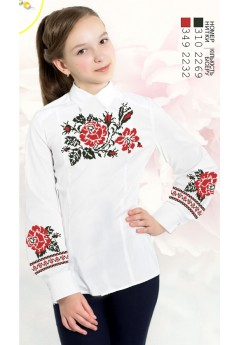 Заготовка для вишивки сорочки на дівчинку, льон білий (Sor96)